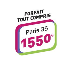 Forfait tous compris Permis 1550€ Paris