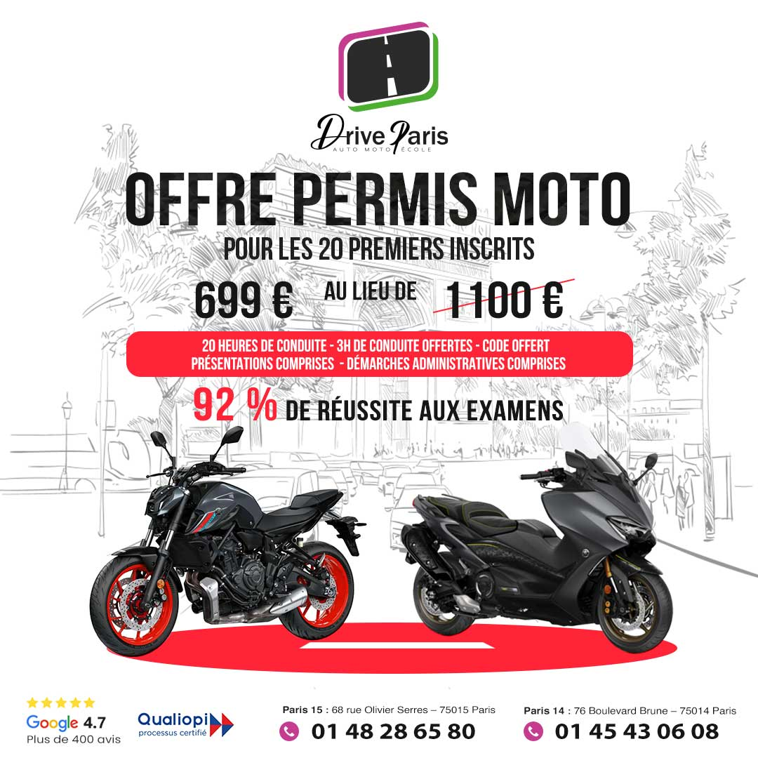 Offre permis moto Paris